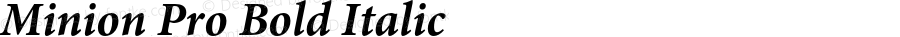 Minion Pro Bold Italic OTF 1.010;PS 001.000;Core 1.0.27;makeotf.lib1.3.1