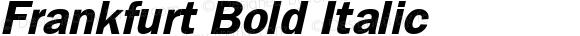 Frankfurt Bold Italic