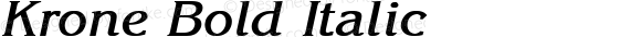 Krone Bold Italic