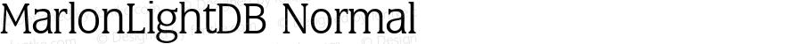 MarlonLightDB Normal Altsys Fontographer 4.0.3 8.9.1994