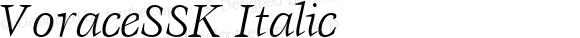 VoraceSSK Italic Altsys Metamorphosis:9/2/94