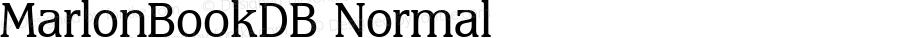 MarlonBookDB Normal Altsys Fontographer 4.0.3 8.9.1994