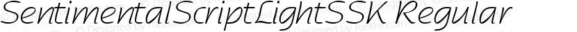 SentimentalScriptLightSSK Regular Preview Image