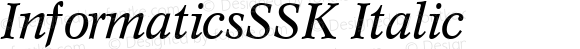 InformaticsSSK Italic Altsys Metamorphosis:8/31/94