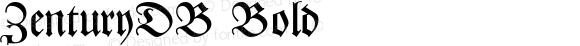 ZenturyDB Bold Altsys Fontographer 4.0.3 9.9.1994