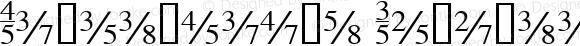 TiFractions Regular Altsys Fontographer 4.0.3 03.06.1994