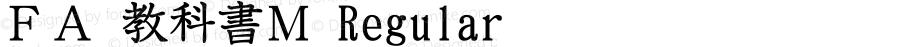 FA 教科書M Regular Version 1.01