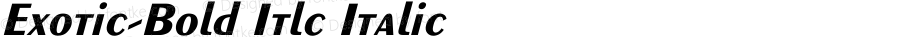 Exotic-Bold Itlc Italic Unknown
