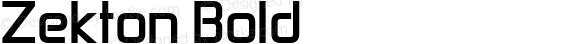 Zekton Bold Version 1.0; 2000; initial release