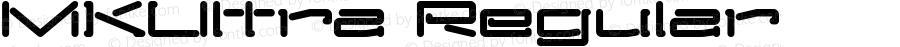 MKUltra Regular Macromedia Fontographer 4.1 9/14/1999