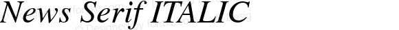 News Serif ITALIC