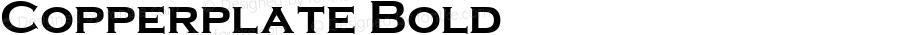 Copperplate Bold Version 1