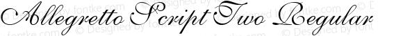 Allegretto Script Two Regular Version 6.1; 2002