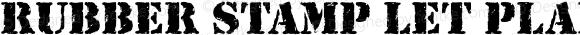Rubber Stamp LET Plain Macromedia Fontographer 4.1.3 9/17/96