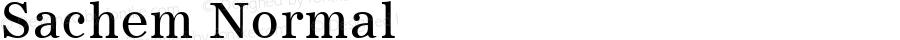 Sachem Normal 1.0 Tue Sep 20 18:44:40 1994