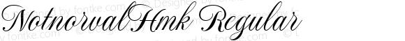 NotnorvalHmk Regular Macromedia Fontographer 4.1.4 10/28/1999