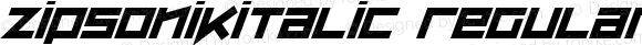 ZipSonikItalic Regular Macromedia Fontographer 4.1.5 9/26/00