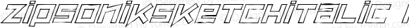 ZipSonikSketchItalic Regular Macromedia Fontographer 4.1.5 9/26/00