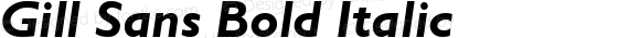 Gill Sans Bold Italic preview image