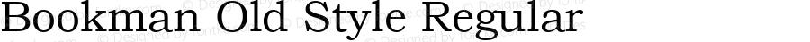 Bookman Old Style Regular Version 1.3 (Hewlett-Packard)