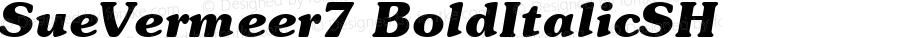 SueVermeer7 BoldItalicSH SoHo 1.0 10/1/93