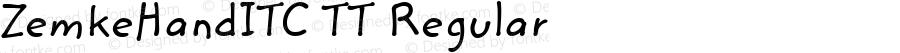 ZemkeHandITC TT Regular Macromedia Fontographer 4.1.3 10/2/96