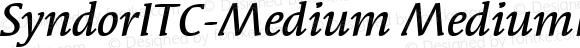 SyndorITC-Medium Italic