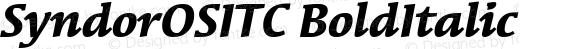 SyndorOSITC-Bold Italic