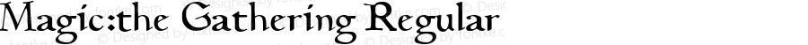 Magic:the Gathering Regular 1998; 1.0, initial release