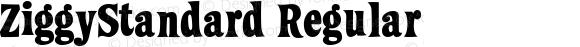 ZiggyStandard Regular Macromedia Fontographer 4.1 10/6/00