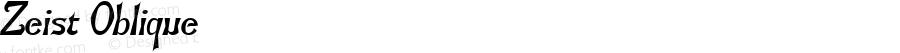 Zeist Oblique 1.0 Tue Oct 11 15:21:09 1994