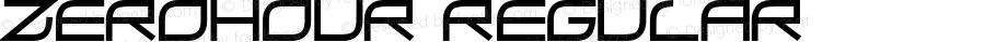 ZeroHour Regular Macromedia Fontographer 4.1 10/12/97