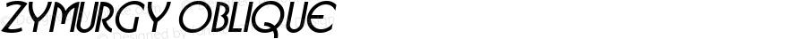 Zymurgy Oblique 1.0 Thu Oct 13 10:29:04 1994