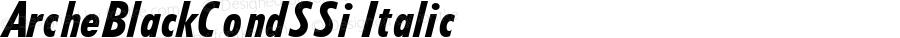 ArcheBlackCondSSi Italic Macromedia Fontographer 4.1 7/25/95