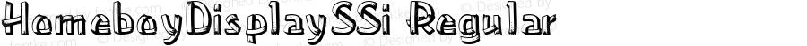 HomeboyDisplaySSi Regular Macromedia Fontographer 4.1 8/3/95