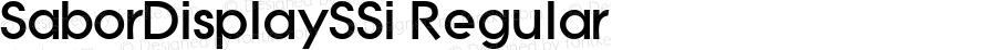 SaborDisplaySSi Regular Macromedia Fontographer 4.1 8/7/95