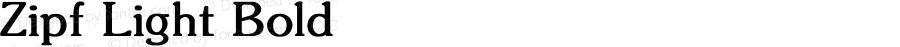 Zipf Light Bold Converted from C:\TRUETYPE\ZIPF_LIG.BF1 by ALLTYPE