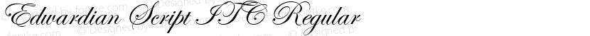 Edwardian Script ITC Regular Preview Image