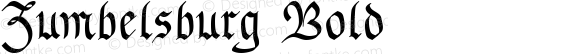 Zumbelsburg Bold Altsys Fontographer 4.0 10/15/93