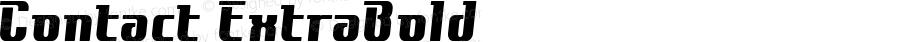 Contact ExtraBold Macromedia Fontographer 4.1J 00.10.17