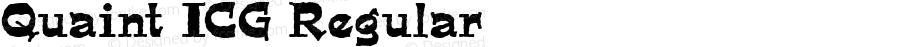 Quaint ICG Regular Altsys Fontographer 4.1 19/09/95