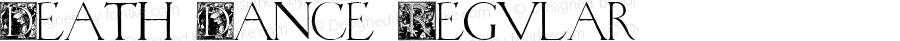 Death Dance Regular Macromedia Fontographer 4.1 10/19/2000