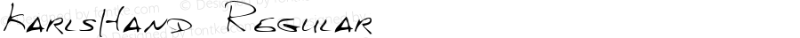 KarlsHand Regular Handwriting KeyFonts, Copyright (c)1995 SoftKey Multimedia, Inc., a subsidiary of SoftKey International, Inc.