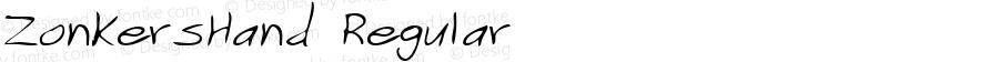 ZonkersHand Regular Handwriting KeyFonts, Copyright (c)1995 SoftKey Multimedia, Inc., a subsidiary of SoftKey International, Inc.