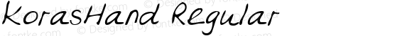 KorasHand Regular Handwriting KeyFonts, Copyright (c)1995 SoftKey Multimedia, Inc., a subsidiary of SoftKey International, Inc.