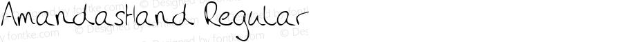 AmandasHand Regular Handwriting KeyFonts, Copyright (c)1995 SoftKey Multimedia, Inc., a subsidiary of SoftKey International, Inc.