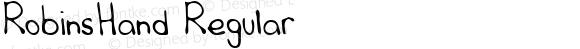 RobinsHand Regular Handwriting KeyFonts, Copyright (c)1995 SoftKey Multimedia, Inc., a subsidiary of SoftKey International, Inc.