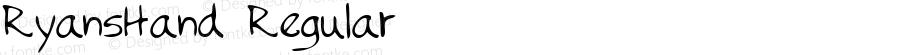 RyansHand Regular Handwriting KeyFonts, Copyright (c)1995 SoftKey Multimedia, Inc., a subsidiary of SoftKey International, Inc.