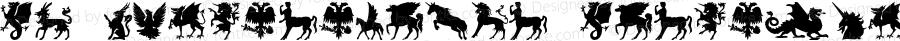 SL Mythological Silhouettes Regular Macromedia Fontographer 4.1 29-10-2000
