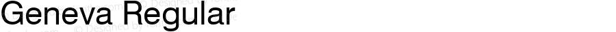 Geneva Regular Font Version 2.6; Converter Version 1.10